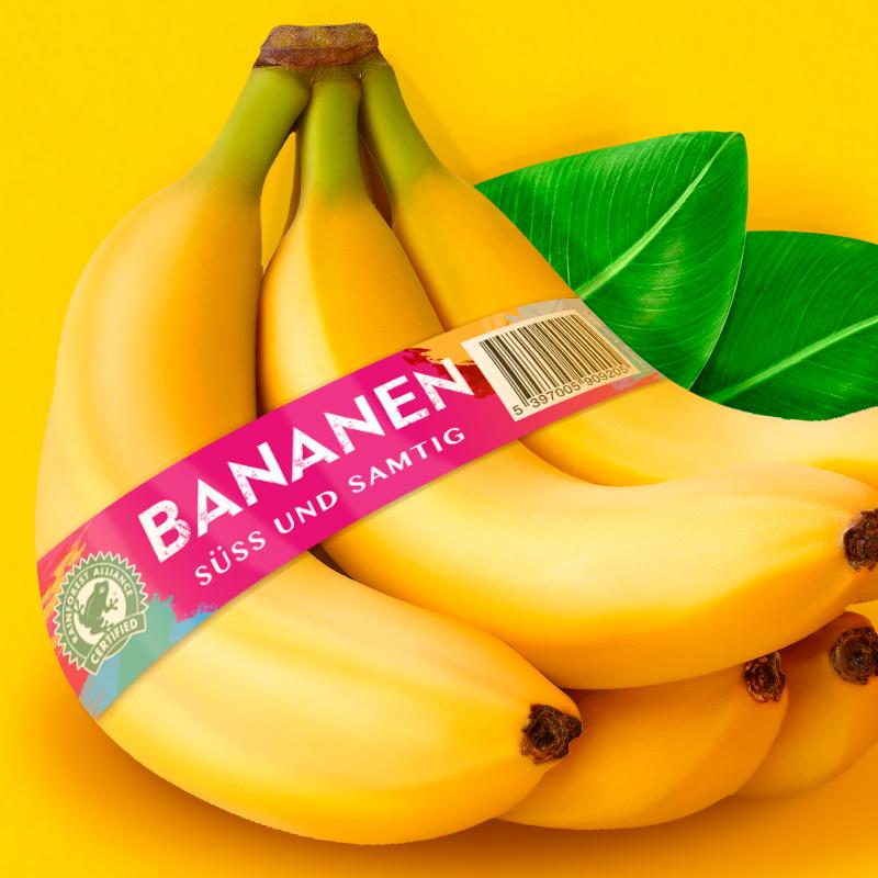 Rewe Bananen Banderole von Bob Agency