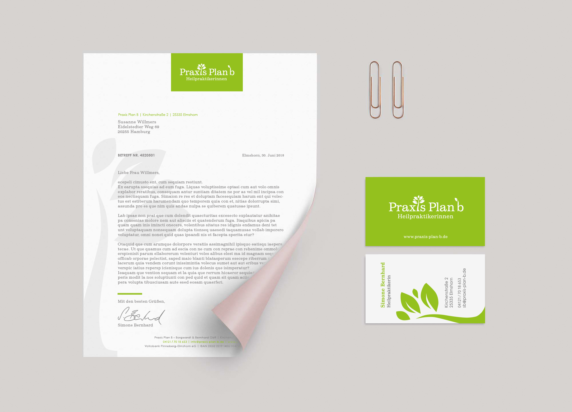 Praxis Plan b corporate identity from bob agency
