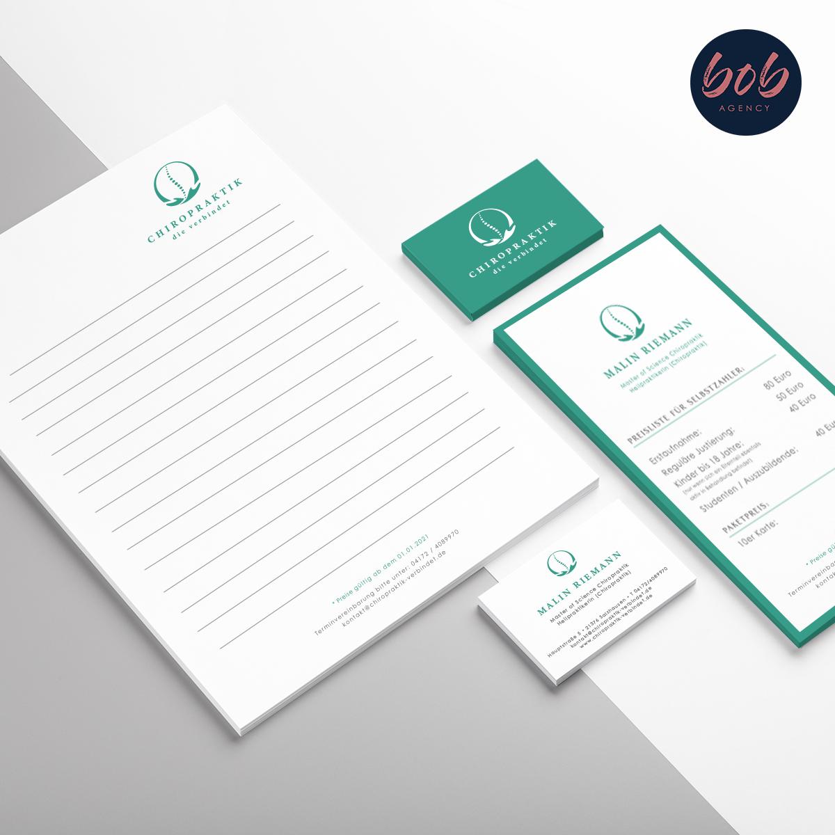 Bob Agency -Werbeagentur für Corporate Design - Chiropraktik - Malin Riemann